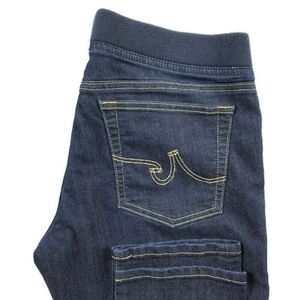 AG Adriano Goldschmied Pull On Skinny Blue Jeans